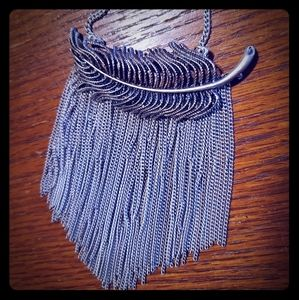 Claire's Feather Necklace